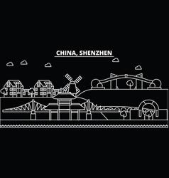 shenzhen silhouette skyline china - shenzhen vector image