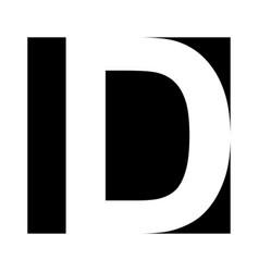 simple elegant logo letter d premium vector image