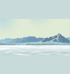 snow glade vector image