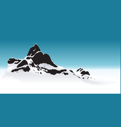 Snowy mountain vector