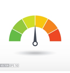 Speedometer flat icon Sign colorful speedometer vector image