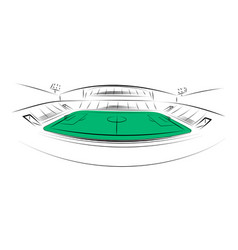 sports stadium on white background hand drawn vector image