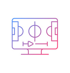 sports streaming gradient linear icon vector image