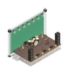 Stage isometric vector