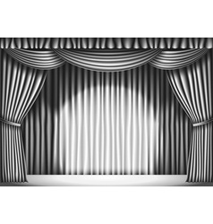 Stage with curtain vector