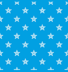 star snowflake pattern seamless blue vector image