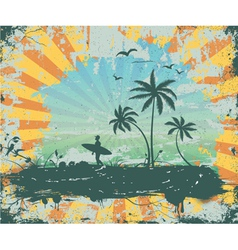 summer grunge background vector image