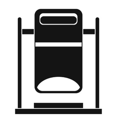 Swinging trashcan icon simple style vector