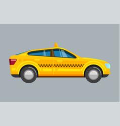 taxi sedan yellow passenger uber car vector image
