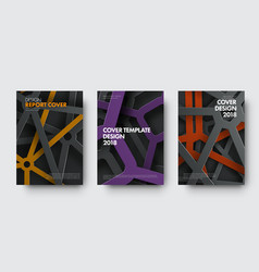 template of covers in modern style with vector image