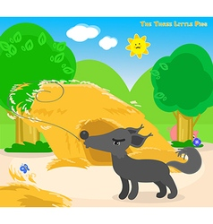 The three little pigs 4 the big bad wolf vector image