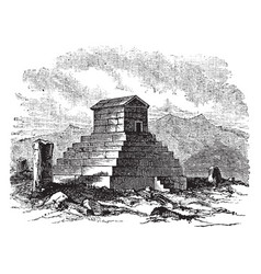 Tomb of cryus vintage vector