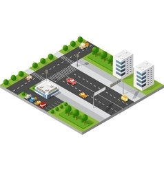 Transportation city streets vector image