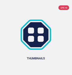 Two color thumbnails icon from content concept vector