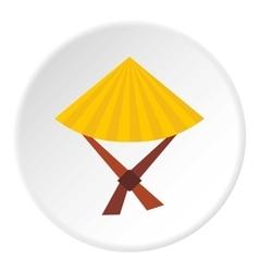 Vietnamese hat icon flat style vector image