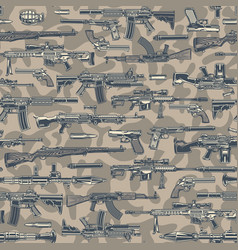 Vintage army colorful seamless pattern vector