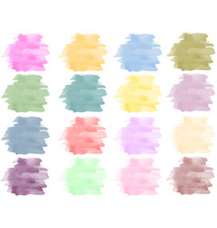 Watercolor background set vector