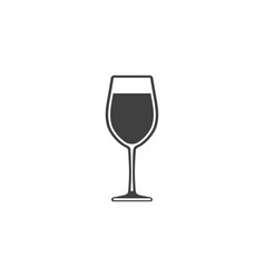 wine in a glass icon isolated on white background vector image