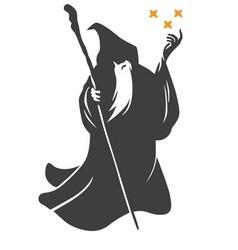 Wizard Cartoon Character Design vector image