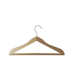 Wooden hanger isolated on white background A vector