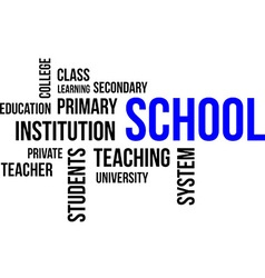 word cloud school vector image