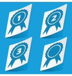 Awards sticker set vector