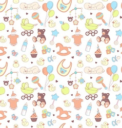 Baby shower seamless pattern Texture for baby girl vector image
