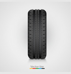 black rubber tire on white background vector image vector image