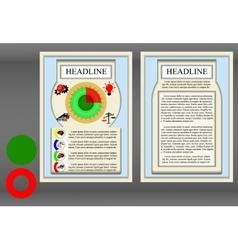 Brochure frame a diagram vector image