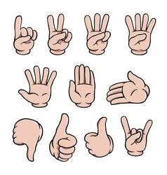 Cartoon hands set vector image