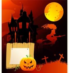 Halloween back vector image vector image