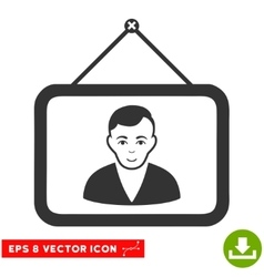 Man Portrait EPS Icon vector image