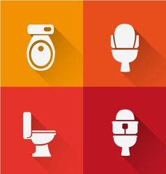 Wc Toilet icon long Shadow vector image vector image