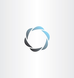 abstract business logo company icon element vector image