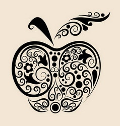Apple ornament vector