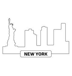cityscape of new york vector image vector image