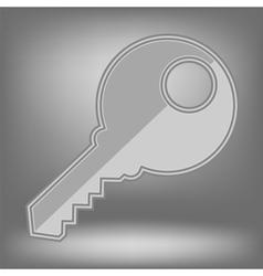 Grey Key Icon vector image