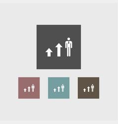 growing icon simple human vector image vector image