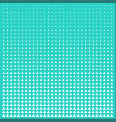 Pattern green and white triangle halftone grid vector