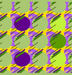 seamless modern patterngreen background geometry vector image vector image