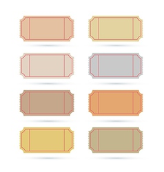 Ticket Set Isolated on White Background vector image vector image