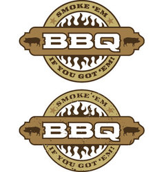 Barbecue design element vector image vector image