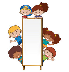 border template with many children vector image vector image