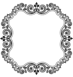 frame with floral decoration vector image vector image