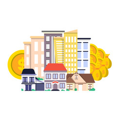 investment in real estate concept in flat design vector image vector image