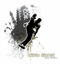 urban dancer vector image