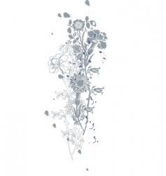 wild flower vector image vector image