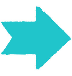 arrow symbol drawing brushstroke vector image vector image