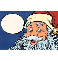 Santa Claus tells comic bubble vector image vector image