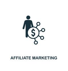 Affiliate marketing icon premium style design vector